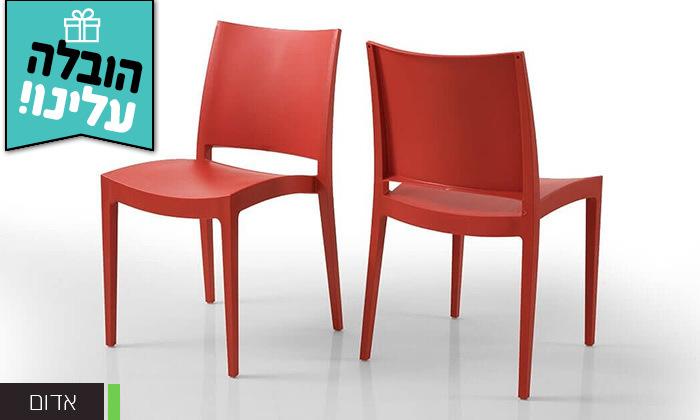 3 שמרת הזורע: סט 4 כיסאות אוכל - משלוח חינם