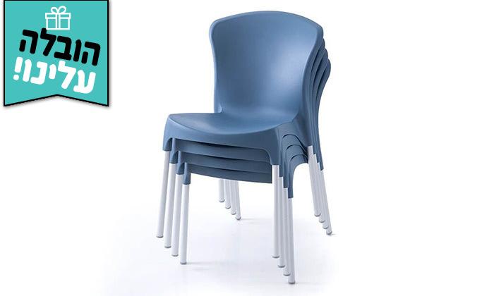 7 שמרת הזורע: סט 4 כיסאות אוכל - משלוח חינם