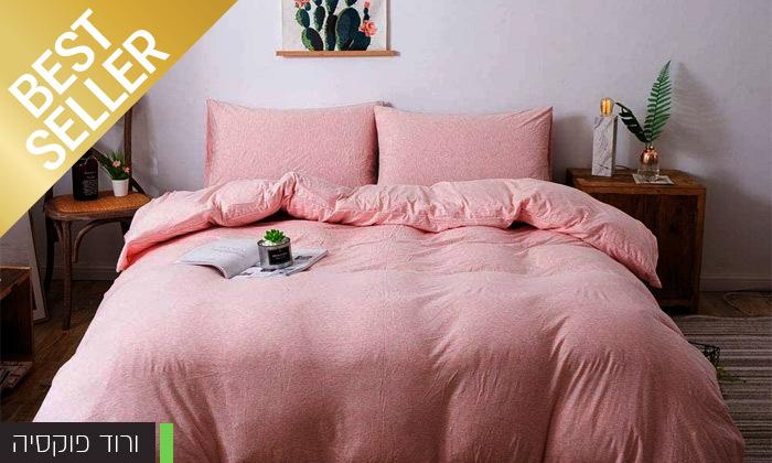 3 שתי מערכות מצעי JERSEY למיטת יחיד או זוגית במבחר צבעים