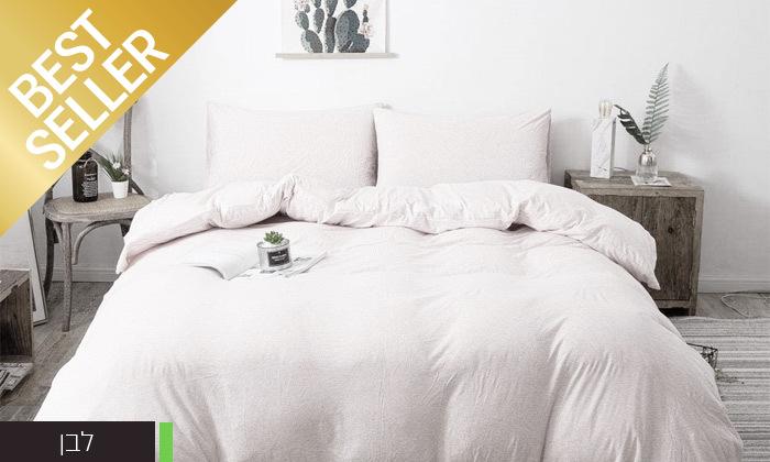 4 שתי מערכות מצעי JERSEY למיטת יחיד או זוגית במבחר צבעים