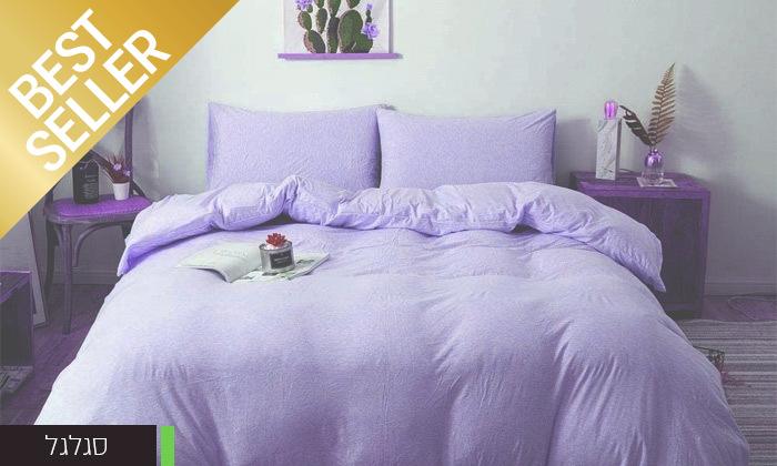 5 שתי מערכות מצעי JERSEY למיטת יחיד או זוגית במבחר צבעים