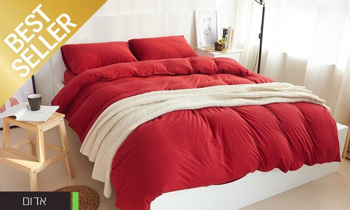 6 שתי מערכות מצעי JERSEY למיטת יחיד או זוגית במבחר צבעים