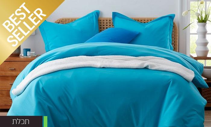 7 שתי מערכות מצעי JERSEY למיטת יחיד או זוגית במבחר צבעים