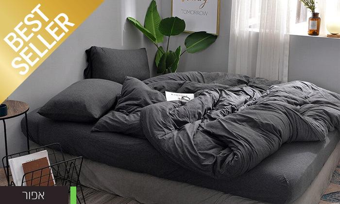 9 שתי מערכות מצעי JERSEY למיטת יחיד או זוגית במבחר צבעים