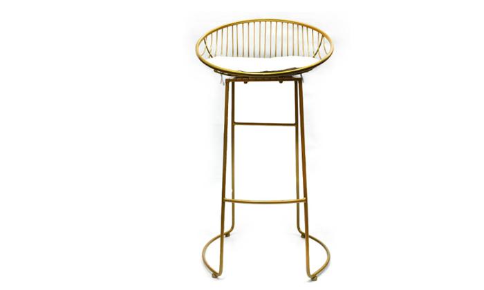 3 זוג כיסאות בר מרופדים בצבע זהב, ROSSO ITALY