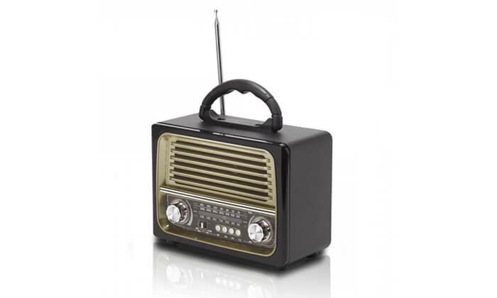 5 רמקול רדיו רטרו ניידעם כניסת USB, בלוטות' מובנה ושלט