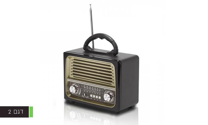 3 רמקול רדיו רטרו ניידעם כניסת USB, בלוטות' מובנה ושלט