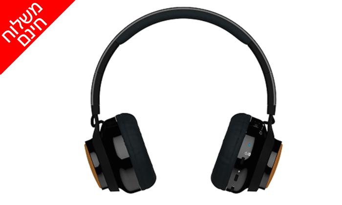 2 אוזניות אלחוטיות משולבות רמקולים X-Mini מעודפים - משלוח חינם