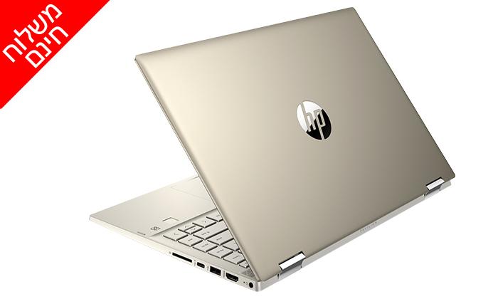 """3 מחשב נייד חדש HP דגם x360 מסדרת Pavilion עם מסך מגע """"14, זיכרון 8GB ומעבד i5 - משלוח חינם"""