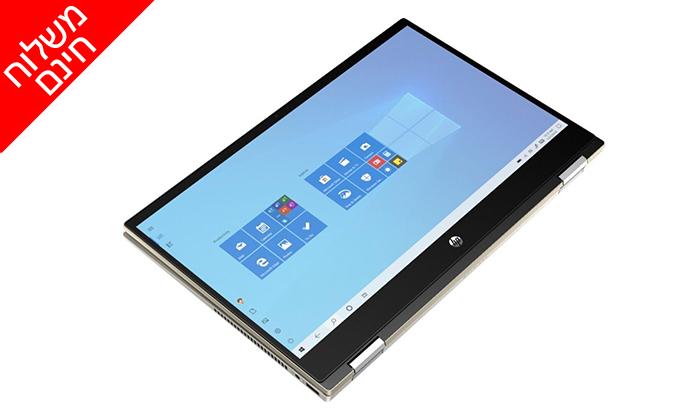 """4 מחשב נייד חדש HP דגם x360 מסדרת Pavilion עם מסך מגע """"14, זיכרון 8GB ומעבד i5 - משלוח חינם"""