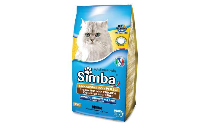 """3 2 שקימזון חתולים יבש 20 ק""""ג בטעם עוף Simba"""