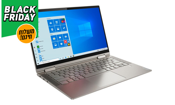 """6 מחשב נייד חדש Lenovo YOGA C740 עם מסך """"15.6, מעבד i7 וזיכרון 12GB - משלוח חינם"""