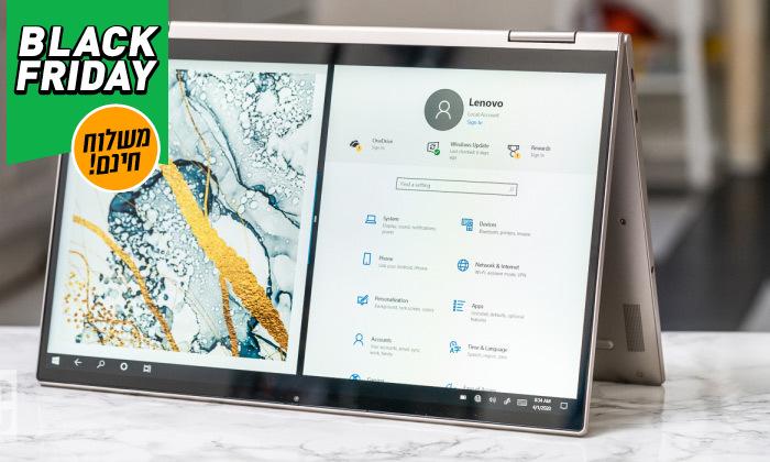 """5 מחשב נייד חדש Lenovo YOGA C740 עם מסך """"15.6, מעבד i7 וזיכרון 12GB - משלוח חינם"""