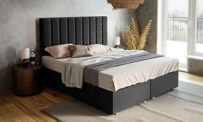 4 מיטה מרופדת דגם רומיעם ארגז מצעים ומזרן קפיצים במבחר מידות