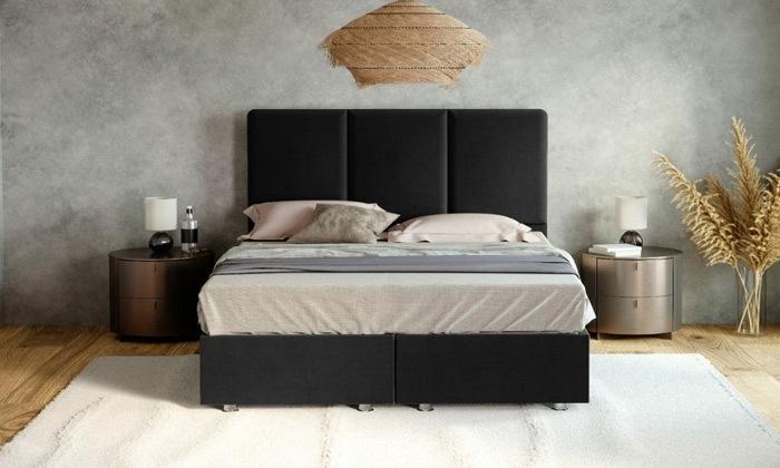 4 מיטה מרופדת דגם טליה עם ארגז מצעים ומזרן קפיצים במבחר מידות