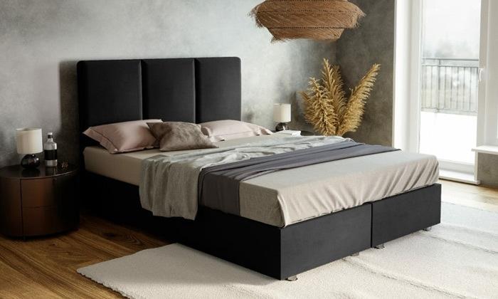 2 מיטה מרופדת דגם טליה עם ארגז מצעים ומזרן קפיצים במבחר מידות