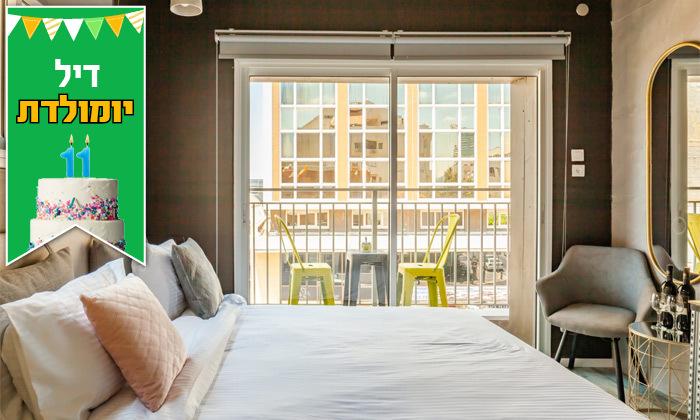 6 חופשה זוגית ועיסוי במלון Dream Beach TLV Boutique Hotel