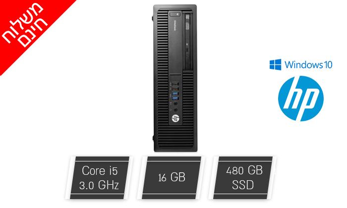 2 מחשב נייח מחודש HP דגם 800 G2 מסדרת EliteDesk עם זיכרון 16GB ומעבד i5 - משלוח חינם