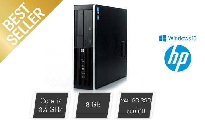 2 מחשב נייח מחודש HP דגם 8200 SFFמסדרת EliteDesk עם זיכרון 8GB ומעבד i7