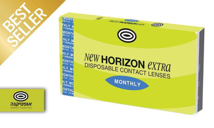 2 מארז 6 עדשות מגע חודשיות HORIZON EXTRA NEW ברשת אופטיקנה