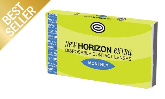 3 מארז 6 עדשות מגע חודשיות HORIZON EXTRA NEW ברשת אופטיקנה