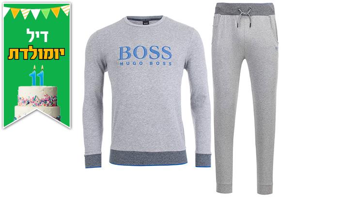 4 חליפת בד לגברים 100% כותנה הוגו בוס HUGO BOSS