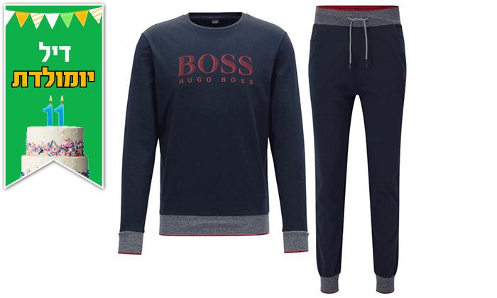 3 חליפת בד לגברים 100% כותנה הוגו בוס HUGO BOSS