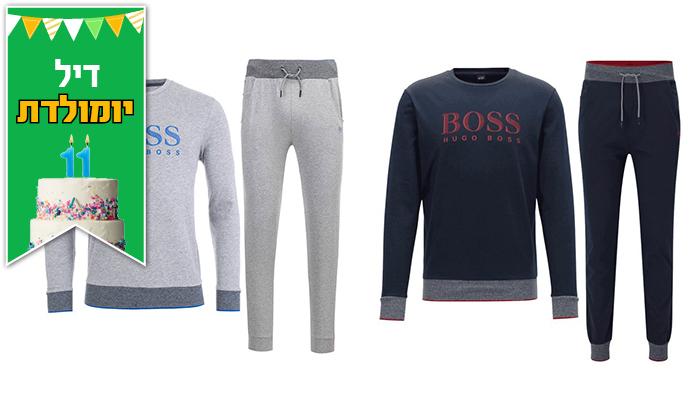 2 חליפת בד לגברים 100% כותנה הוגו בוס HUGO BOSS