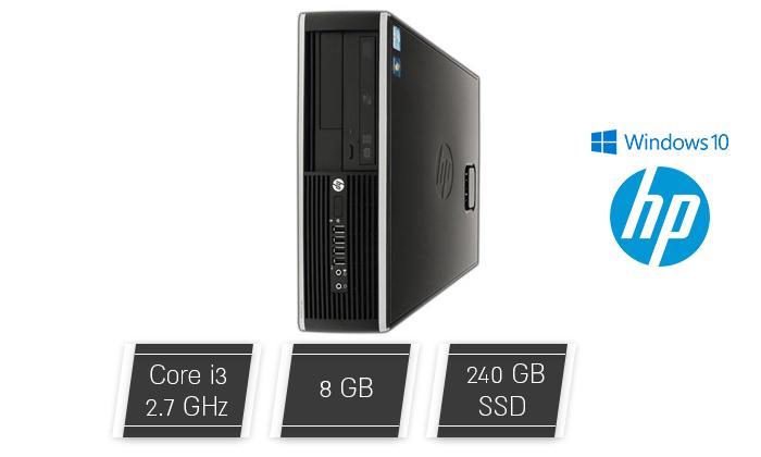 2 מחשב נייח מחודש HP/DELL/Lenovo עם זיכרון 8GB ומעבד i3