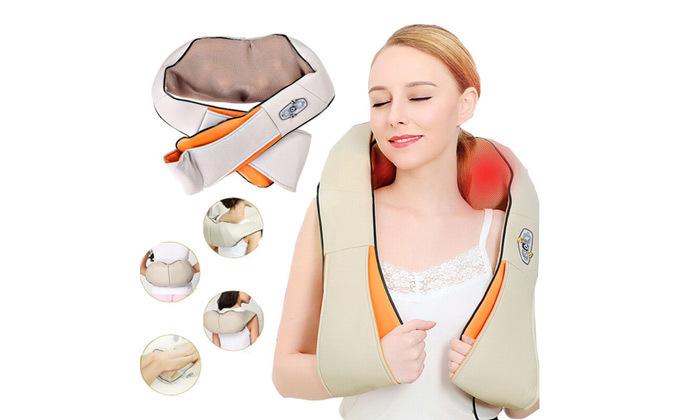 3 חגורת עיסוי שיאצו עם חימום לכתפיים ולצוואר