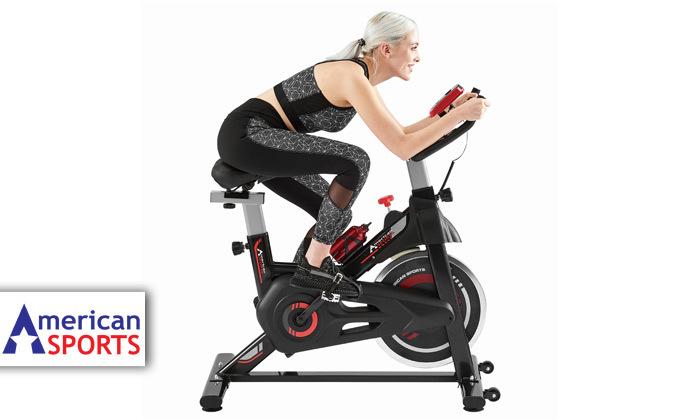 """2 אופני ספינינג 10 ק""""ג American SPORTS – מתצוגה או חדש"""