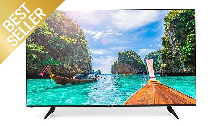2 טלוויזיה חכמה PROSONIC 4K, מסך 82 אינץ'