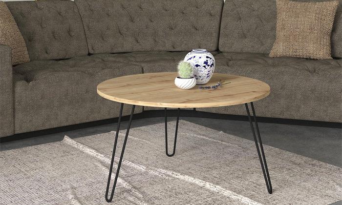 """2 שולחן סלון עגול 60 ס""""מ - דגמים לבחירה"""