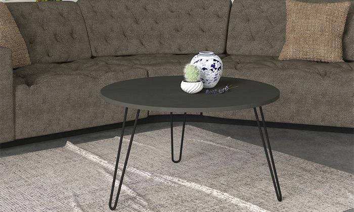 """4 שולחן סלון עגול 60 ס""""מ - דגמים לבחירה"""