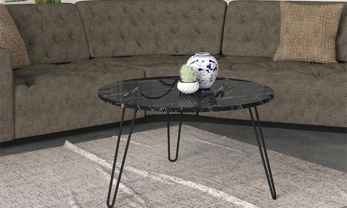 """6 שולחן סלון עגול 60 ס""""מ - דגמים לבחירה"""