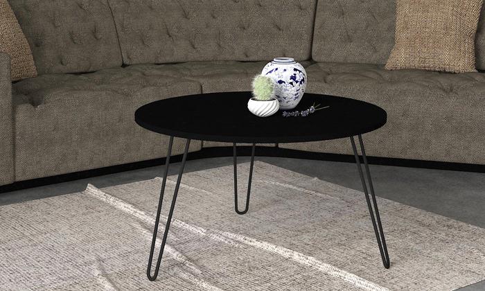 """8 שולחן סלון עגול 60 ס""""מ - דגמים לבחירה"""