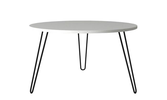 """11 שולחן סלון עגול 60 ס""""מ - דגמים לבחירה"""