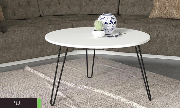 """10 שולחן סלון עגול 60 ס""""מ - דגמים לבחירה"""