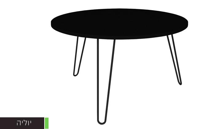 """9 שולחן סלון עגול 60 ס""""מ - דגמים לבחירה"""