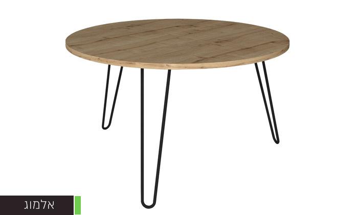 """3 שולחן סלון עגול 60 ס""""מ - דגמים לבחירה"""