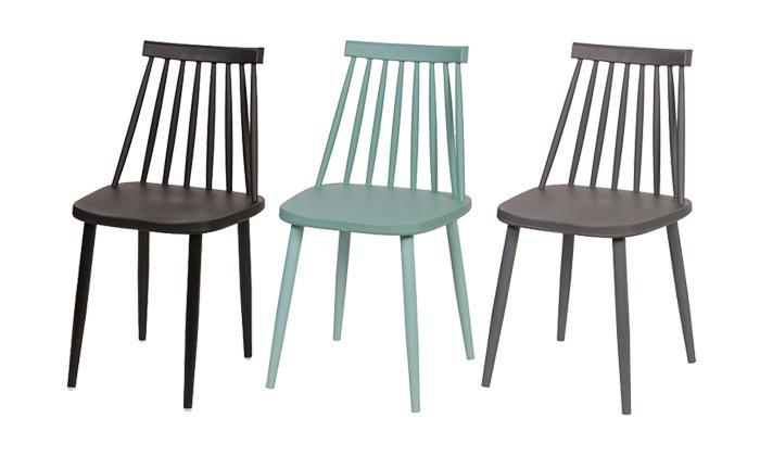 2 רביעיית כיסאות פלסטיק דגם 104A