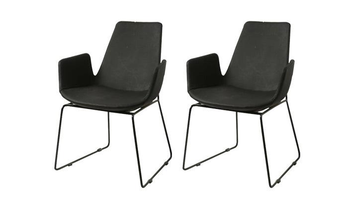 2 זוג כיסאות בצבע שחור