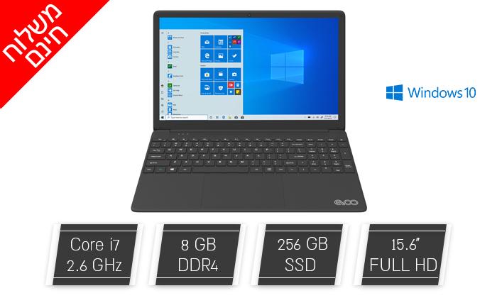 """2 מחשב נייד חדש EVOO דגם EVC156-1BK עם מסך """"15.6, זיכרון 8GB ומעבד i7 - משלוח חינם"""
