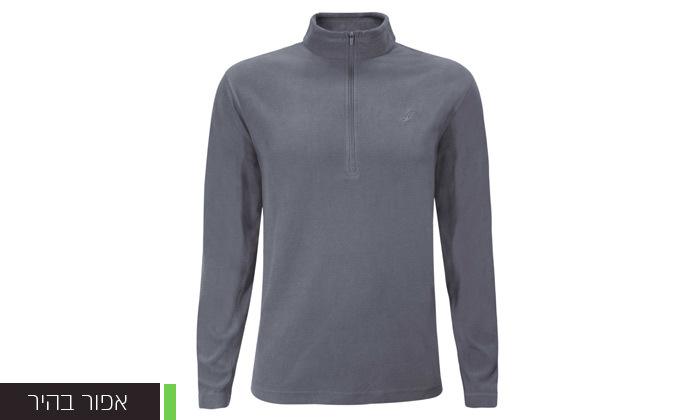 3 חולצת מיקרופליז לגברים OUTDOOR דגםMAR במבחר צבעים