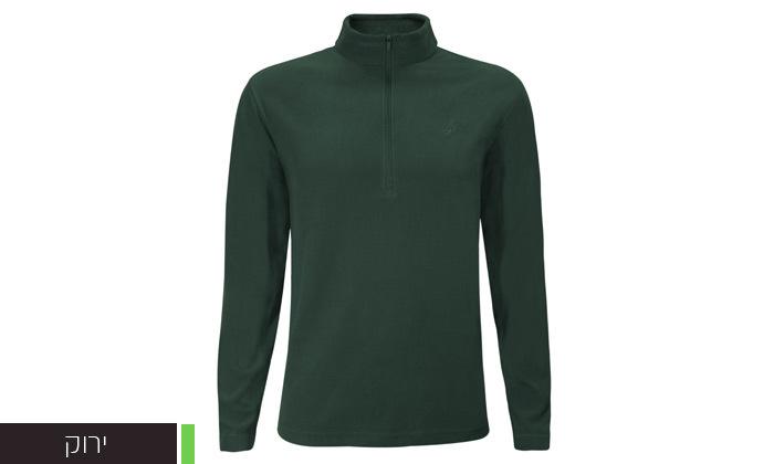 4 חולצת מיקרופליז לגברים OUTDOOR דגםMAR במבחר צבעים