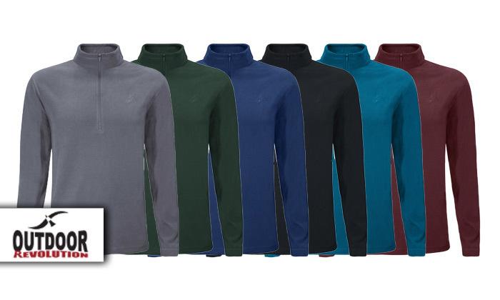 2 חולצת מיקרופליז לגברים OUTDOOR דגםMAR במבחר צבעים