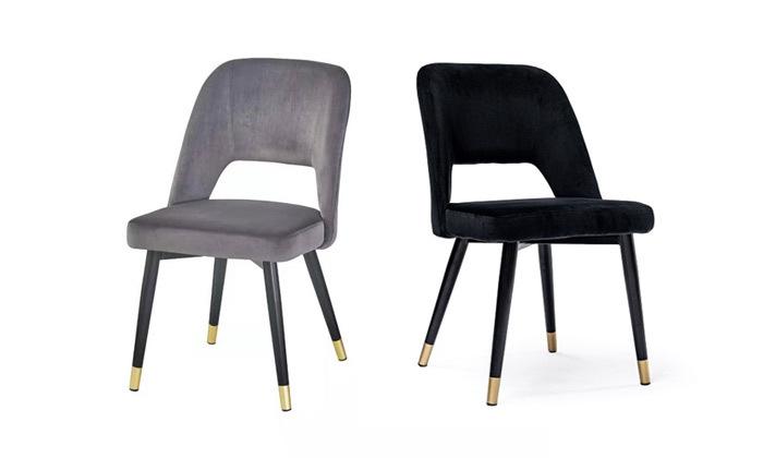2 כיסא מרופד לפינת האוכל