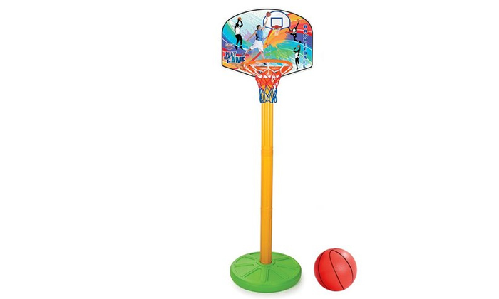 2 מתקן כדורסל מתכוונן עם כדורפילסן - Pilsan