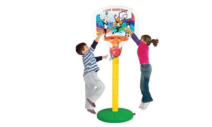 4 מתקן כדורסל מתכוונן עם כדורפילסן - Pilsan