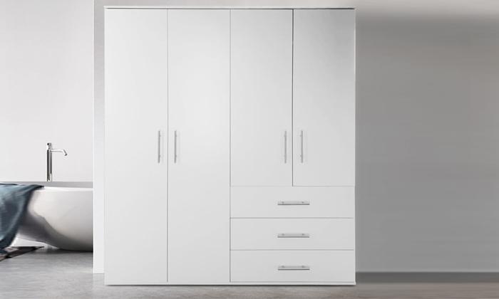 2 ארון בגדים עם 4 דלתות ו-3 מגירות ראמוס עיצובים